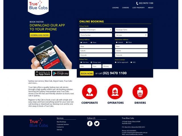 Sydney True Blue Cab Co. - Taxi Sydney